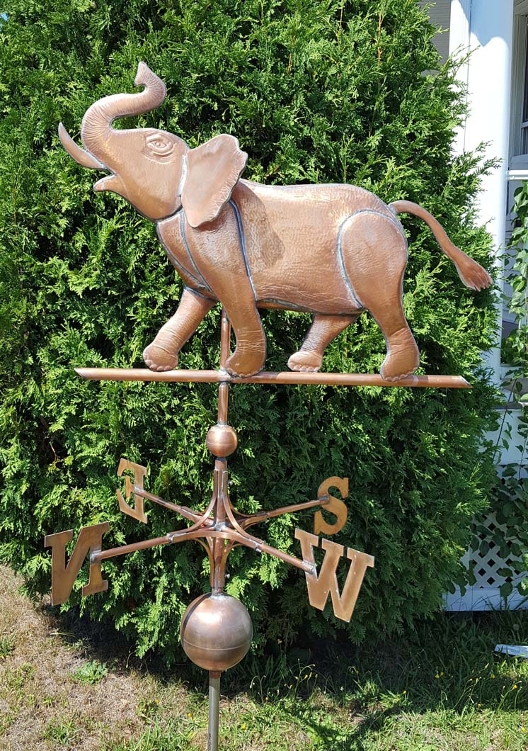 Animal Weathervane, Elephant, #114-XL right