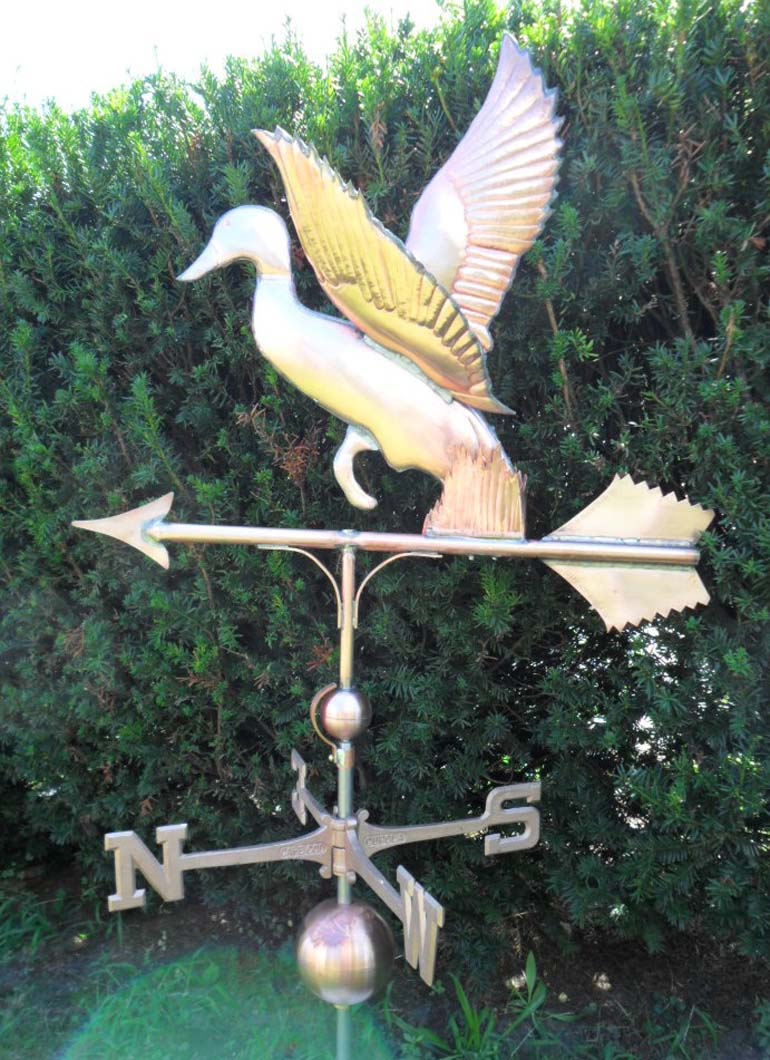 Bird Weathervane, Duck, Leaping #108-ML