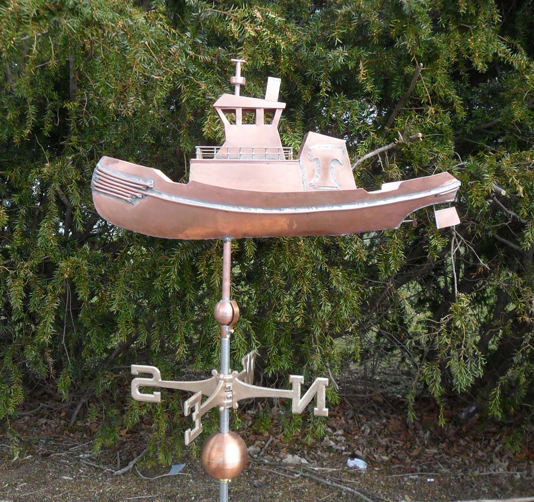Boat Weathervane, Work Boat, Tugboat John P. Wronowski, #433-M