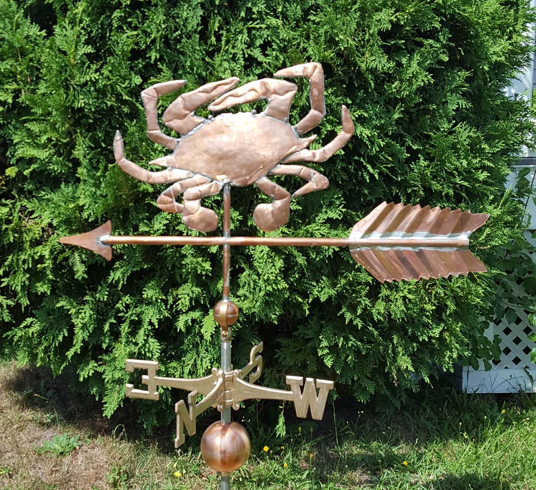 Sea Life Weathervane, Crab, Blue Crab, #9-M left