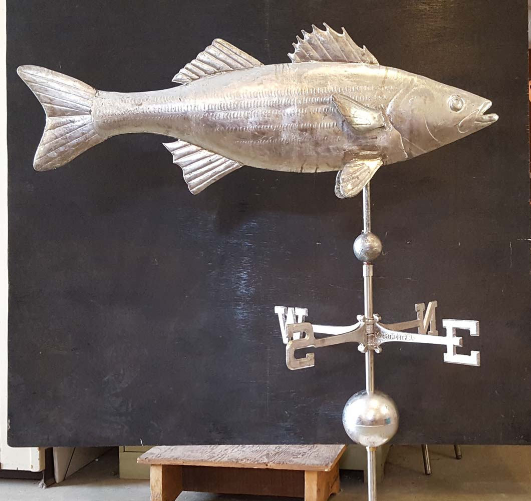 Sea Life Weathervane, Fish, Striped Bass, #14-ML Lead Coated Copper