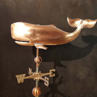 Sea Life Weathervane, Whale with Twisted Tail, #139-SM