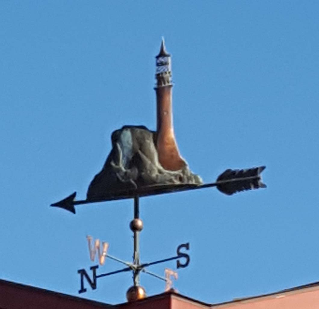 Structures Weathervane, Fastnet Rock lighthouse, Bristol County Savings Bank
